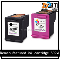 for hp printer ink cartridge 302xl remanufactured ink cartridge 302
