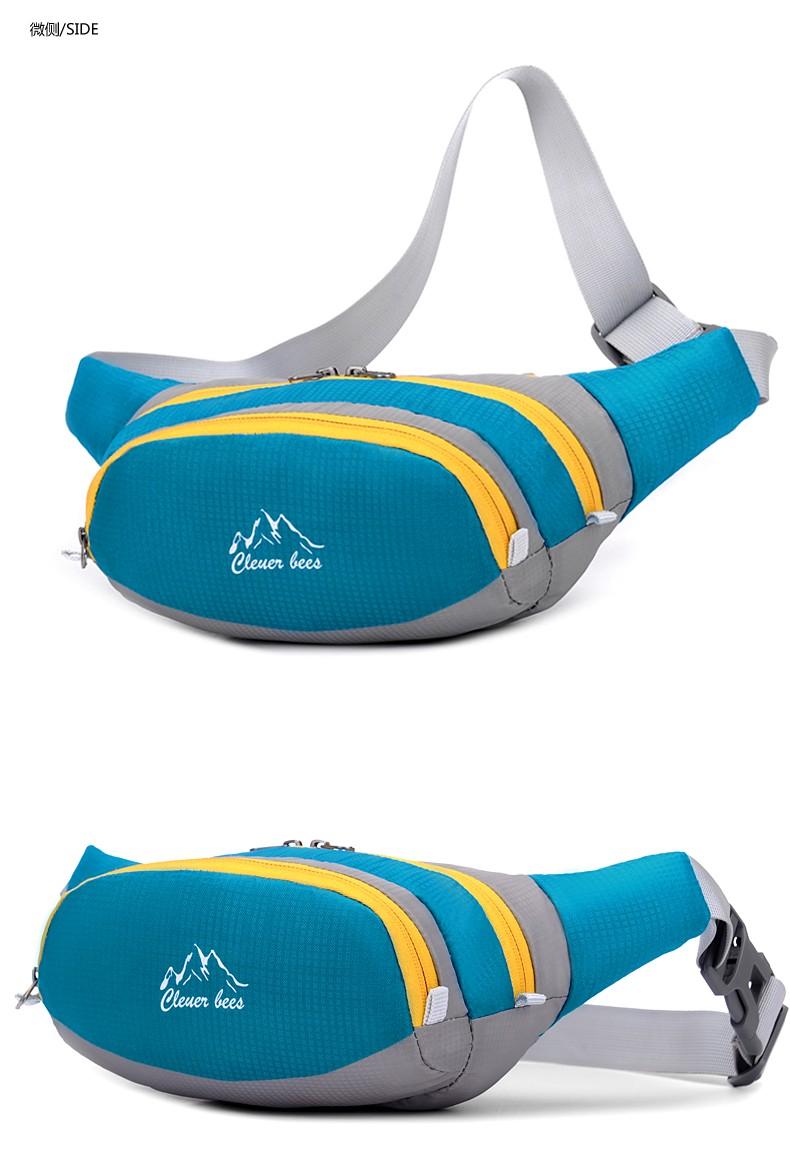 Running Hiking Camping Outdoor Sport Nylon Waterproof Waist Bag