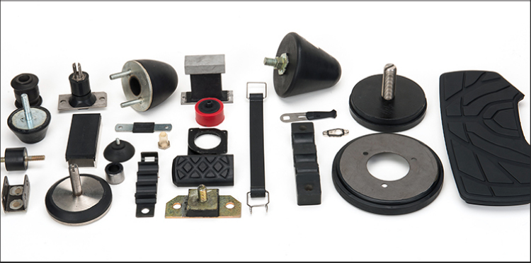 Custom size rubber parts and metal bonded parts for bumper
