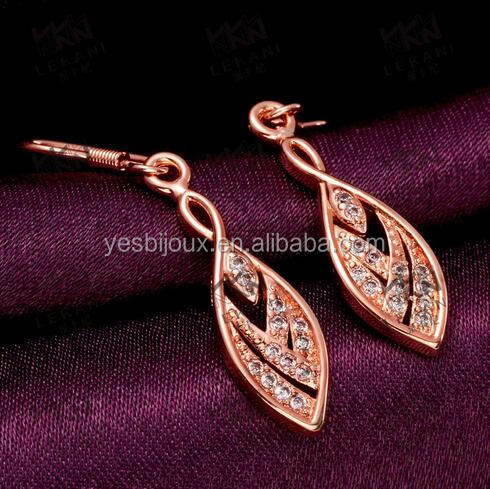 Exqusite Women Cubic Zirconia gold Plated Drop earrings