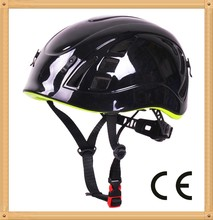 Lightweight climbing protective head gear,injection mountaineering helmet. Arborist safety helmet