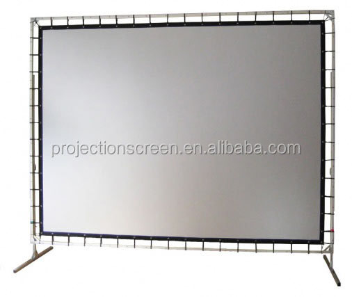 Quickly aluminum alloy flight case for fast fold screen , pvc screen ,3D silver fabric
