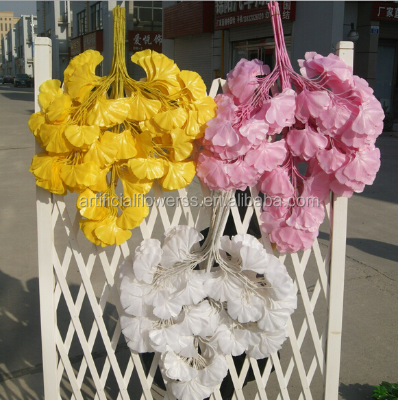 Factory Supply Wholesale Decorative Ginkgo Artificial Ginkgo Leaves