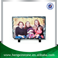 China Factory Direct Sales Cheap 20*15cm Polished Surface Rectangle Blank Sublimation Rock Slate Photo