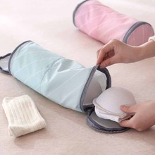Travel socks cylinder double divided oxford bag bra storage