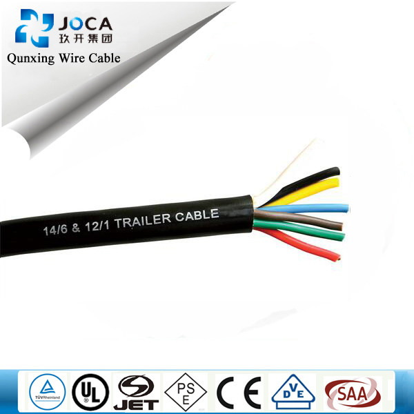 7 cores truck trailer cable with 4 pieces 4 pin aviation connector for splitter screen backup camera kit