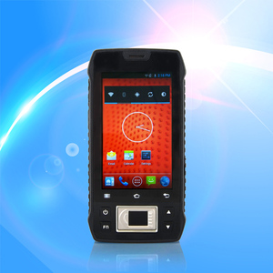 3G Android Portable Fingerprint Handheld PDA With Barcode Scanner and RFID Reader Warehouse Management