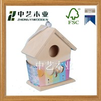 FSC and SEDEX audited cheap outdoor hanging wooden bird house,wooden bird house for kit