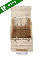 cheap small square storage large willow wicker basket with lid