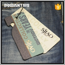 China wholesale paper hang tags for jeans
