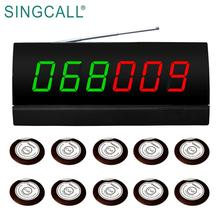 SINGCALL Remote Display Wireless Waiter Call System with Vibrator Buzzer