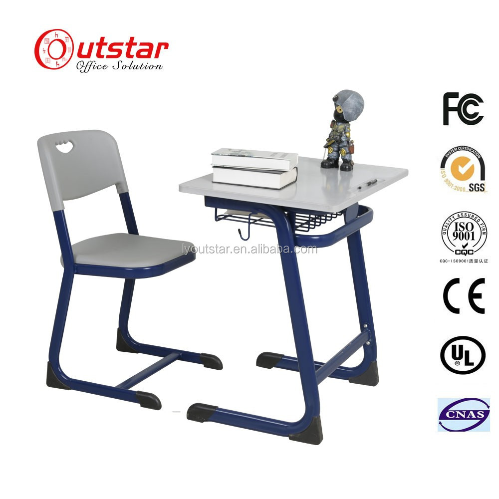 Cheap metal frame student desk steel school furniture steel study desk