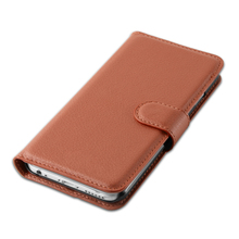 PU Leather Lichee Wallet Flip Stand Phone Case Cover For HTC One A9