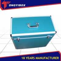 Professional aluminum makeup case colorful beauty box cosmetic case
