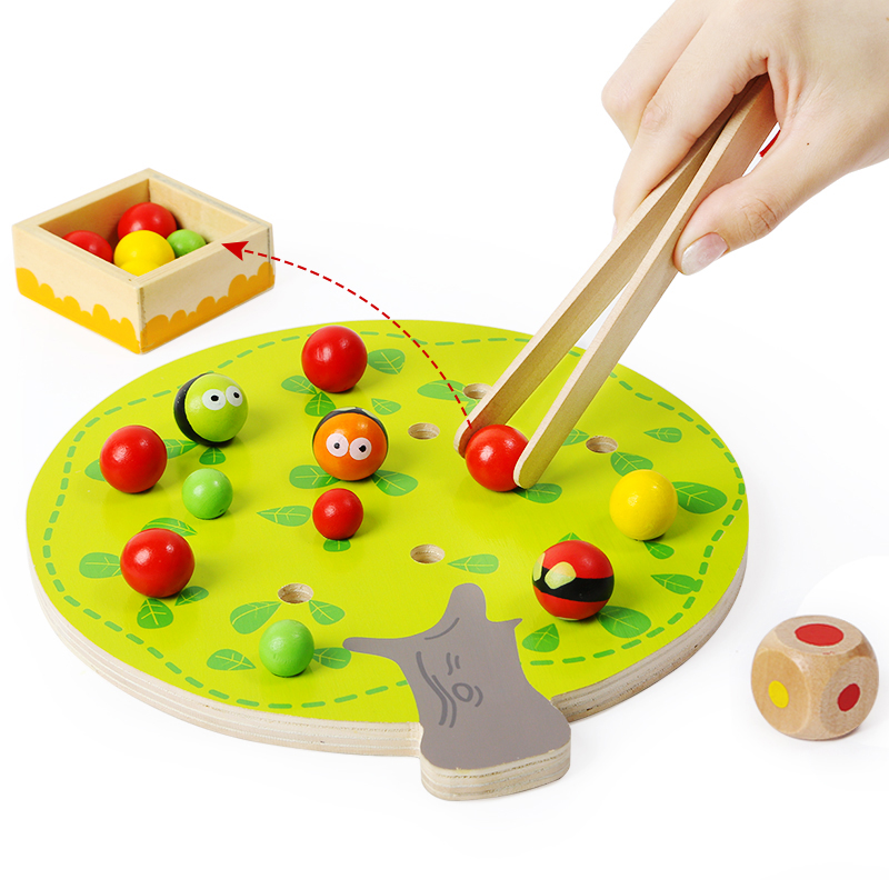 Top bright Wooden <strong>Apple</strong> Picking Learning Sensory Toys for Children