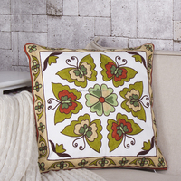 National Style Vintage Embroidery Home Decoration Pillow For Sofa Chair