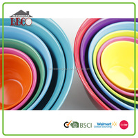 melamine colorful mixing bowl sets for whipping / plastic whip bowl sets