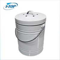 1.3 gallon New design white color compost bin/ stainless steel garbage bin/recycle bucket