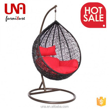 una high quality outdoor garden synthetic rattan hanging kids swing chair