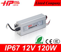 Factory provide waterproof led power supply single output type 12v 120w constant current dimmable led driver