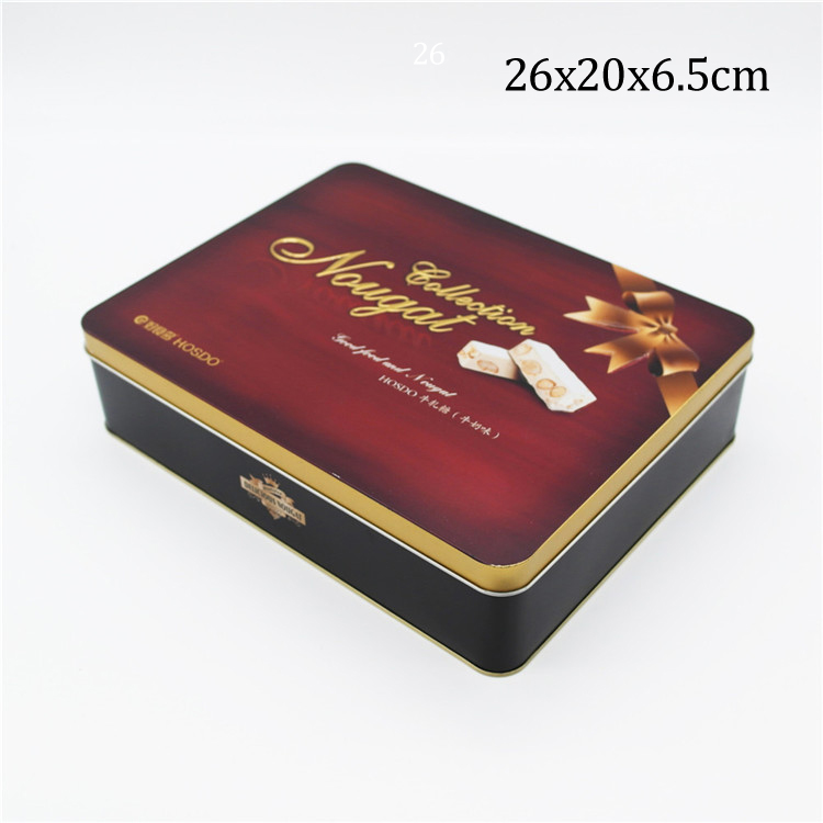 Custom printed tin box gift tin can metal tin box