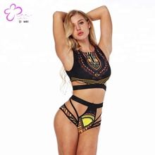 Hot sale black cupless bikini underwear for beautiful women