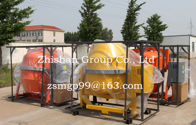 CM300L/350L/400L/500L/600L/800L Zhishan Electric Gasoline Diesel Portable Cement Concrete Mixer
