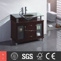 High Quality Solid Wood Single Bowl Bathroom Vanity