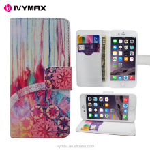 China wholesale import 3D sublimation printing case leather wallet flip design case cover for iphone 6