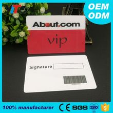 Custom Business RQ code Plastic Membership PVC Card With Signature Panel Fashion