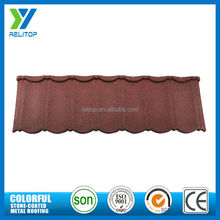 2017 hot sale products natural classic stone coated metal roofing tile