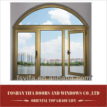 2014 new product aluminum double glazed windows with built in blinds made in china