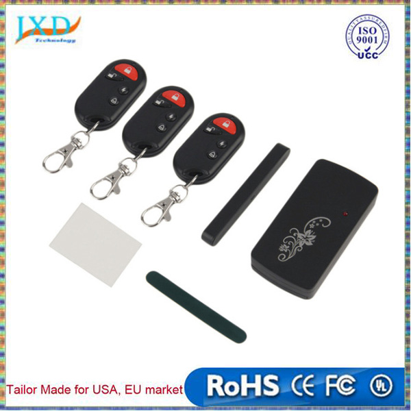 Smart Magnetic Sensor Remote Control Wireless GSM Door Window Voice Alarm Home House Entry Burglar Security System Black