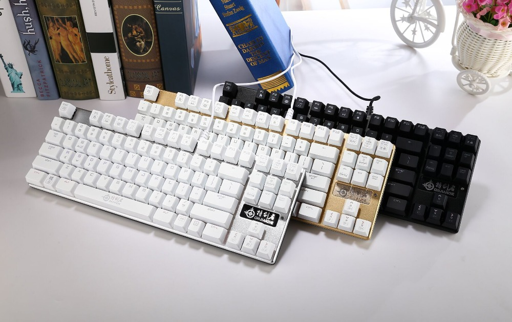 Lastest wired slim gaming keyboard with led backlight with usb port