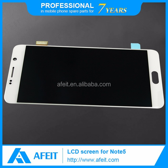 LCD display touch screen digitizer with frame white blue for Samsung Galaxy Note 5