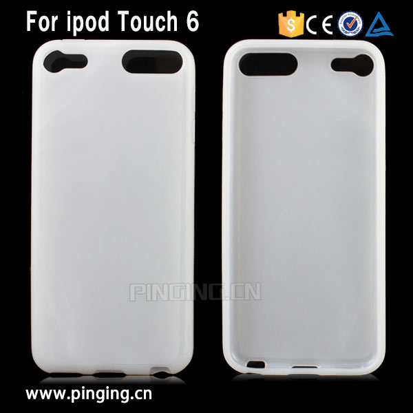 pudding Soft tpu gel back Cover case for ipod touch 6 , for ipod touch 6 case