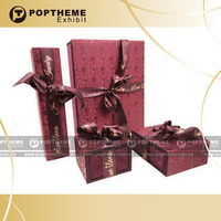 2014 new kraft paper box- red colour gift sets for packaging 14-198-PDBX-A01 with best price