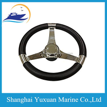 13.5 Inch Steering Wheel W/PU Foam & Leather Covering For Marine Boat/Ship