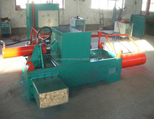 hydraulic rice husk sawdust wood shavings block making machine