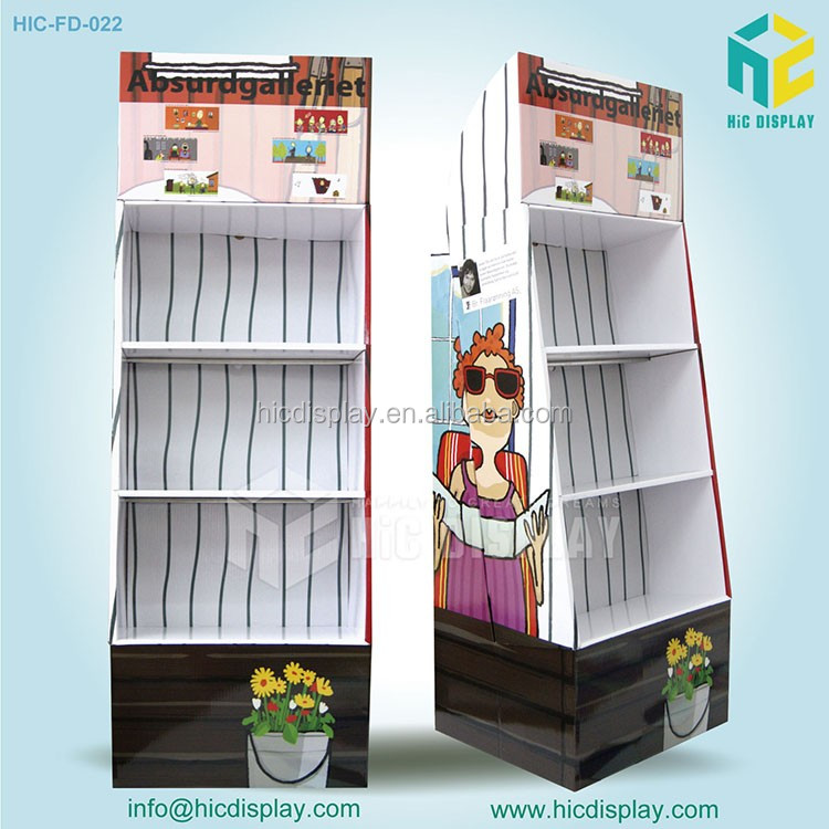 2017 HIC Corrugated Floor cardboard display stand for sunglass