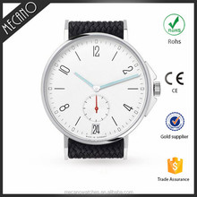 Japan Movt Watch Stainless Steel Case Back Customed Minimalist Watch With Soft Leather
