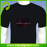 el flashing wear/el flashing t-shirt,Suitable for Concerts, Raves and Parties