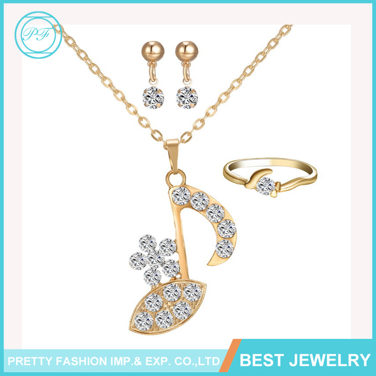 YiWu New Designs Jewelry Set Rhinestone Meaningful Symbol Pendant Necklace For Girls