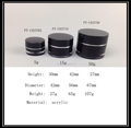 Luxury 5g 15g 50g acrylic black cream jars