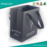 Handle fashion new gift black paper bag