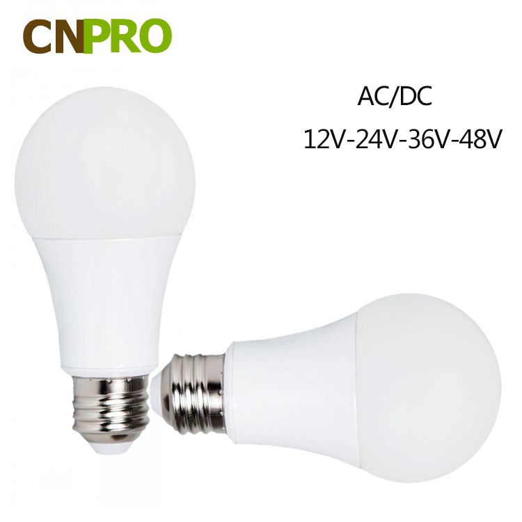 AC/DC 12V 24V 36V 48V 60V E26 E27 B22 4000K 5000K 6000K LED Bulb Light 5W 7W 9W 12W Bulb Factory Direct Sale In Stock