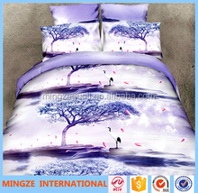 Cheap flat luxury bed sheet set home textile bedding set