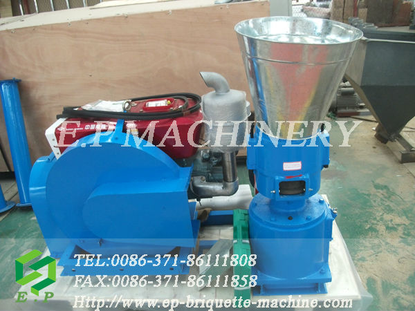 best selling pellet machine for rice husk ( with diesel engine )