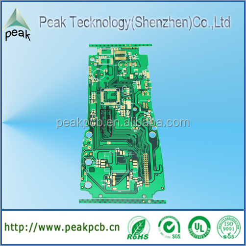 Customized PCB With ENIG Surface Treatment, Immersion Gold, High-quality Standard
