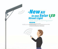 2016 cheap new design cellphone/mobile WIFI control solar street light all in one price